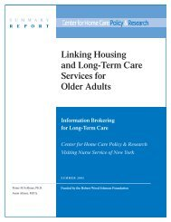 Linking housing and long-term care services for older adults.
