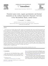 Potential source rocks, organic geochemistry and thermal ...