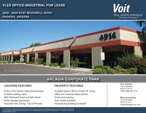ARCADIA CORPORATE PARK - Voit Real Estate Services