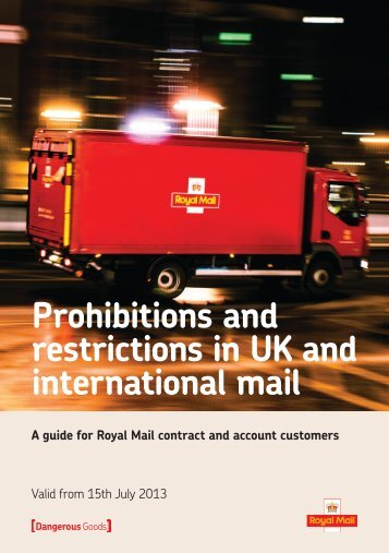 Dangerous Goods - Royal Mail