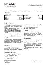 GLENIUM ® SKY 615 - BASF Construction Chemicals