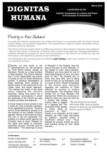 Dignitas Humana - March 2010.pub - Catholic Diocese of Christchurch