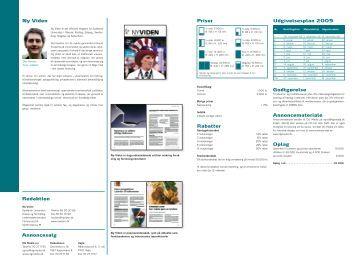 Udgivelsesplan 2009 Priser Rabatter Godtgørelse ... - DG Media