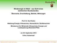 Windenergie im Wald - Deutscher Naturschutztag