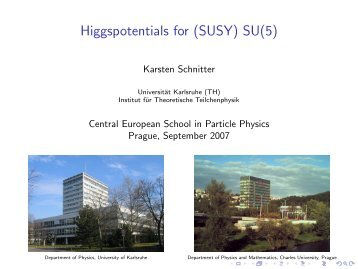 SU(5) - Institute of Particle and Nuclear Physics