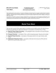 Mixed-Finance Rental Term Sheet - HUD