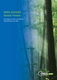 DWS ACCESS Global Timber - BIT Treuhand AG