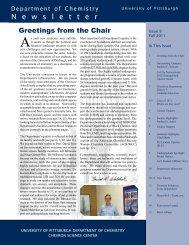 Newsletter Fall 2011 - Department of Chemistry - University of ...