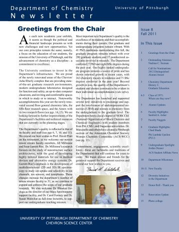 Newsletter Fall 2011 - Department of Chemistry - University of ...