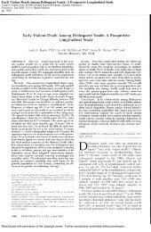 Early Violent Death Among Delinquent Youth: A Prospective ...