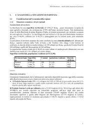1. L'ANALISI DELLA SITUAZIONE DI PARTENZA - Dps