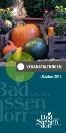 oktober 2012 - Tagungs- und Kongresszentrum Bad Sassendorf