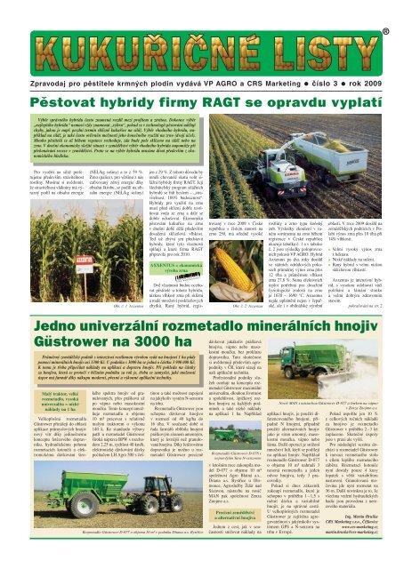 Jedno univerzální rozmetadlo minerálních hnojiv ... - VP Agro