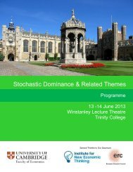 Stochastic Dominance Conference, Cambridge, 13-14 June 2013.