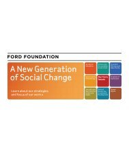 A New Generation of Social Change - Ford Foundation