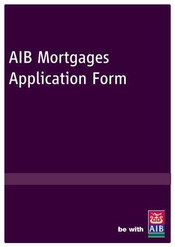 AIB Mortgages Application Form - Best Advice