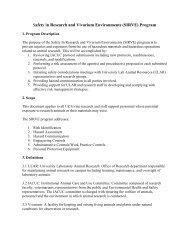 (SIRVE) Program - UCI Environmental Health & Safety