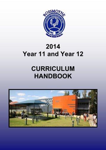 2014 Curriculum Handbook Year 11-12.pdf - Rossmoyne Senior ...