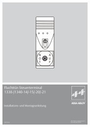 Fluchttür-Steuerterminal 1338-/1340-14/-15/-20/-21 - Assa Abloy