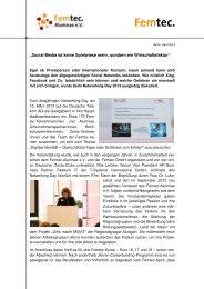 2013 bei der Deutschen Telekom AG - Femtec