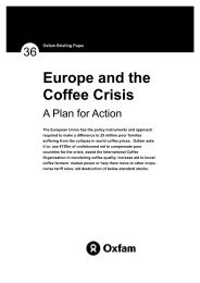 Europe and the Coffee Crisis - Oxfam International