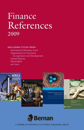 Finance References 2009 - Bernan