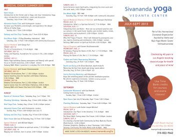 JULY-SEPT 2013 - Sivananda Yoga