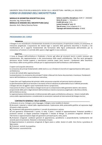 scarica il pdf - Università degli Studi della Basilicata