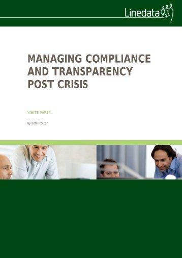 Compliance White paper - Linedata