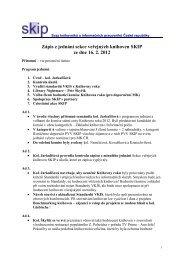 Zápis z jednání Sekce veřejných knihoven SKIP ze dne 16.2.2012
