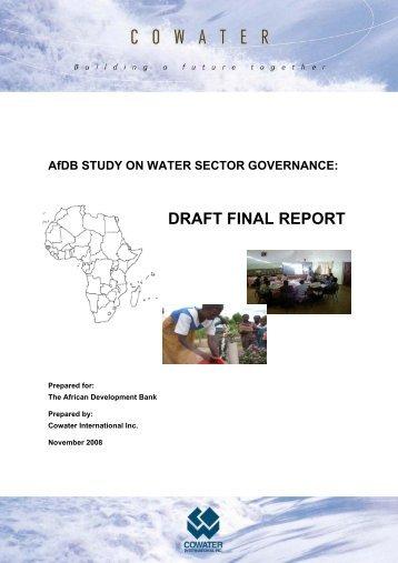 AfDB STUDY ON WATER SECTOR GOVERNANCE - Capacity4Dev