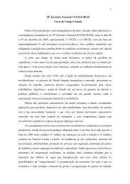 1 38 Encontro Nacional CFESS/CRESS Carta de Campo Grande Os ...