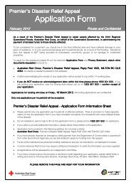 Premier's Disaster Relief Appeal - Application - Australian Red Cross