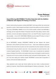 Press Release - Henkel Content Management System