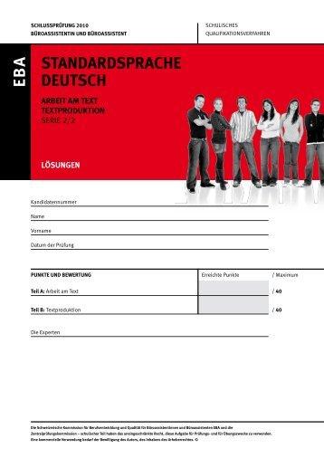 pdf 2010_Deutsch_EBA_Serie 2_Arbeit am ... - KV Schweiz