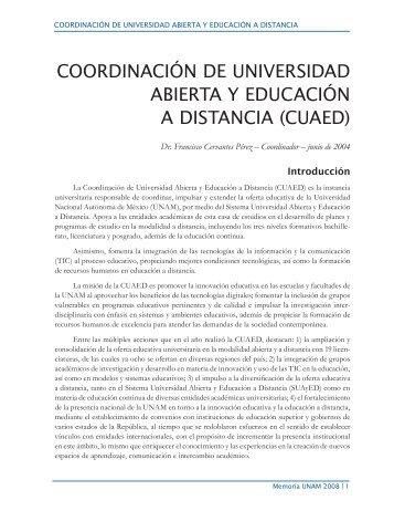 coordinación de universidad abierta y educación a distancia (cuaed)