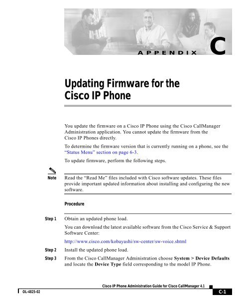 C Updating Firmware for the Cisco IP Phone