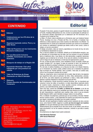 Info SCOUT 52 - Scouts del Perú