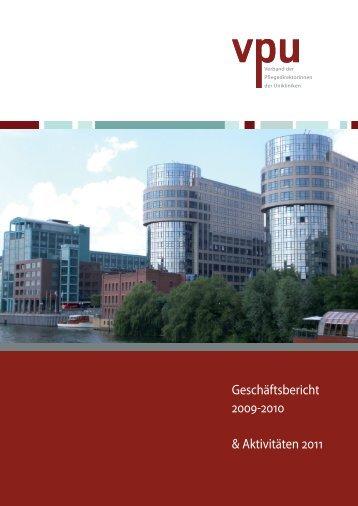 Tätigkeitsbericht des VPU für die Jahre 2009-2010