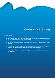 Cardiothoracic Activity - Organ Donation