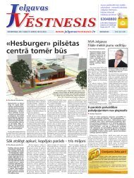 2012.gada 19.aprīlis Nr.16(252) - Jelgavas Vēstnesis