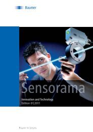 Innovation and Technology Edition 01 2011 - Baumer