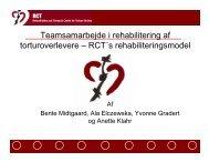 Teamsamarbejde i rehabilitering af torturoverlevere – RCT´s ...