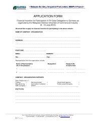 APPLICATION FORM - mbipv project