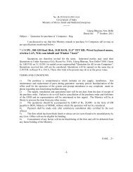 Quotation for purchase of Computers - Reg. - Ministry of Micro, Small ...
