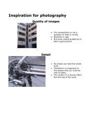 Inspiration for photography Quality of images
