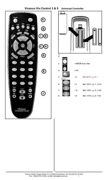 Vivanco Viv.Control 3 & 5 Universal Controller - Svsupport.se