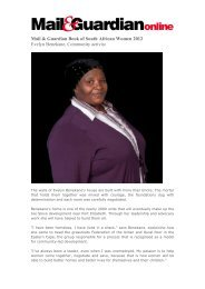 Mail & Guardian Book of South African Women 2012 Evelyn ...