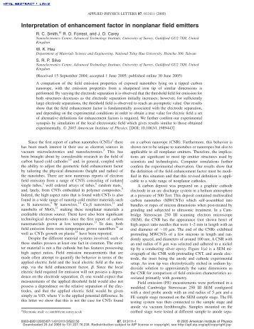 Interpretation of enhancement factor in nonplanar field emitters