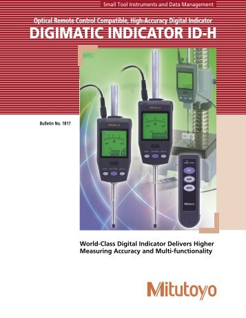 Optical Remote Control Compatible, High-Accuracy Digital Indicator